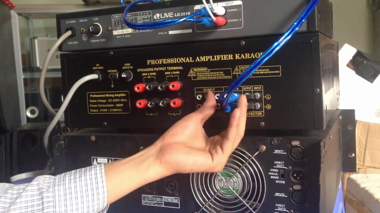 cách kết nối equalizer với ampli